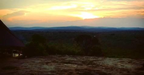 Sunset at Rwakobo Rock