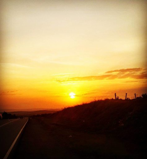 Sunset near Lyantonde, Uganda