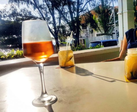 Rose Wine at 6 Degrees South Zanzibar - Drinks in Zanzibar before visiting Matemwe hotels