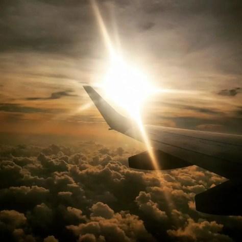 enya Airways Sunset in the Sky