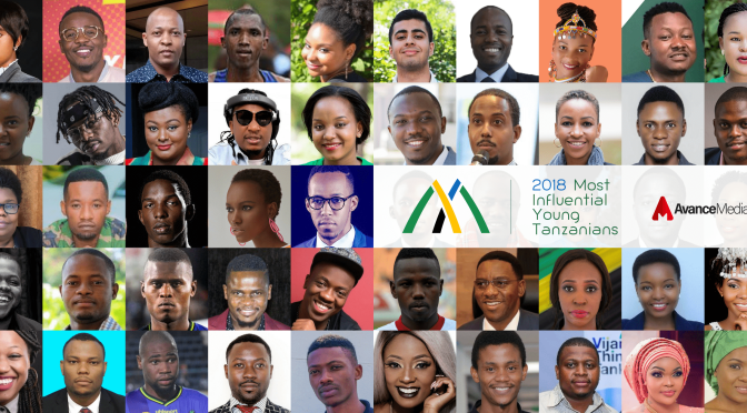 2018 50 Most Influential Young Tanzanians