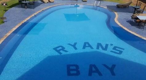 The Swimming pool at Ryan's Bay Hotel in Mwanza