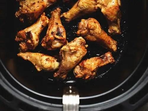 Pan fried chicken wings