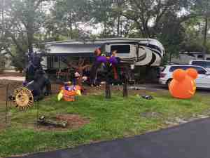 Fort Wilderness Halloween Decor Fifth Wheel