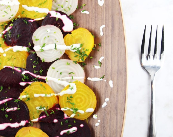 Roasted beets with horseradish sauce