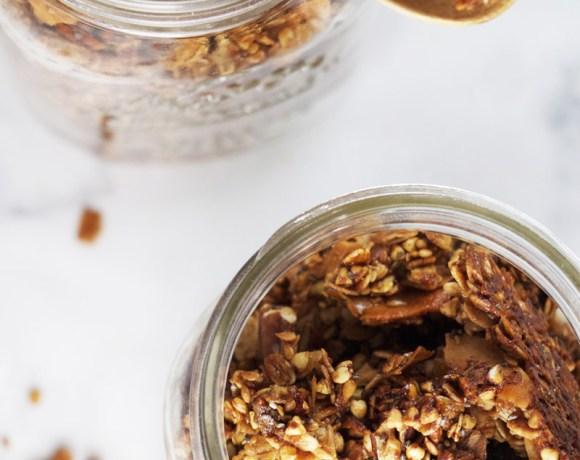 cardamom-spiced buckwheat granola