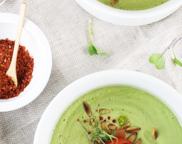 chilled avocado cucumber soup {Video}