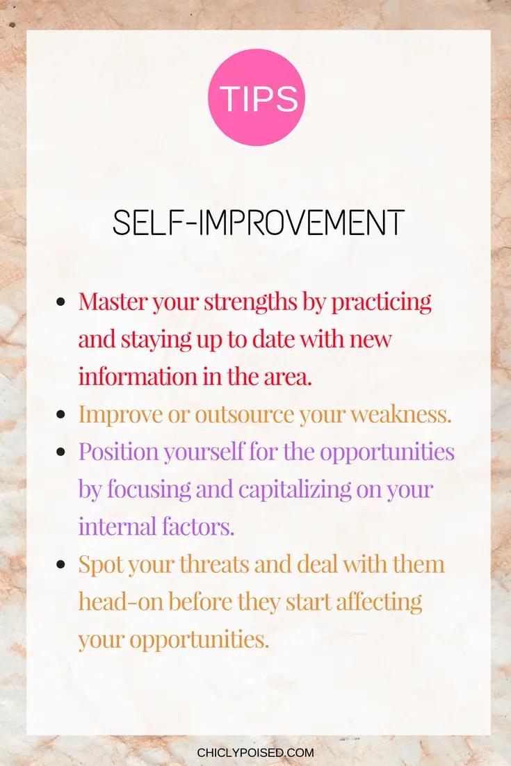 self improvement guide using personal swot analysis chiclypoised chiclypoisedcom - Using Personal Swot Analysis For Career Development