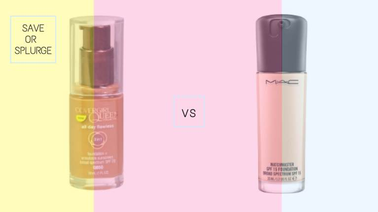CoverGirl Queen Collection All Day Flawless Foundation vs Mac Matchmaster SPF 15 Foundation | Best Drugstore Foundations Dupes Under 10 Dollars | Chiclypoised | Chiclypoised.com