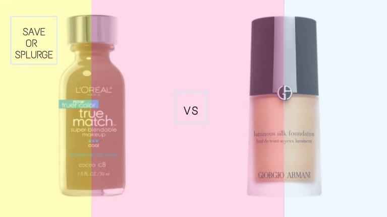 L'Oréal Paris True Match Super-Blendable Makeup vs Giorgio Armani Luminous Silk Foundation | Best Drugstore Foundations Dupes Under 10 Dollars | Chiclypoised | Chiclypoised.com