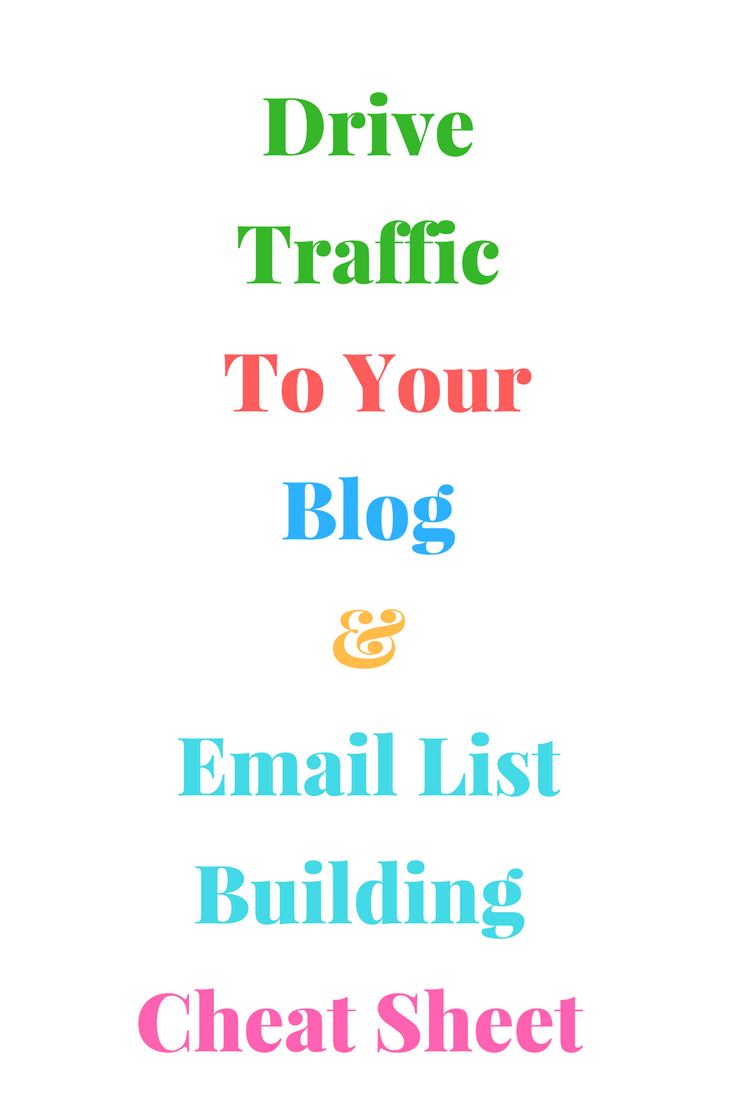 Driving Traffic to Your Blog and Listing Building Cheat Sheet | Chiclypoised Resources | Chiclypoised.com