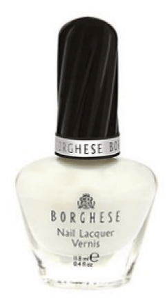 30 White Nail Polishes Under 10 Dollars | Borghese Nail Lacquer, Bianco White Tip C B115 | Chiclypoised.com