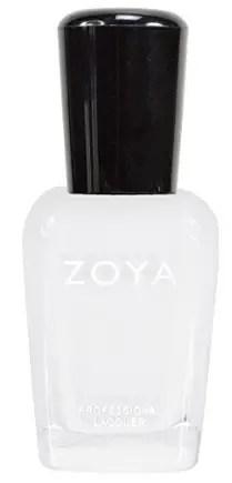 30 White Nail Polishes Under 10 Dollars | ZOYA Nail Polish Purity | Chiclypoised.com