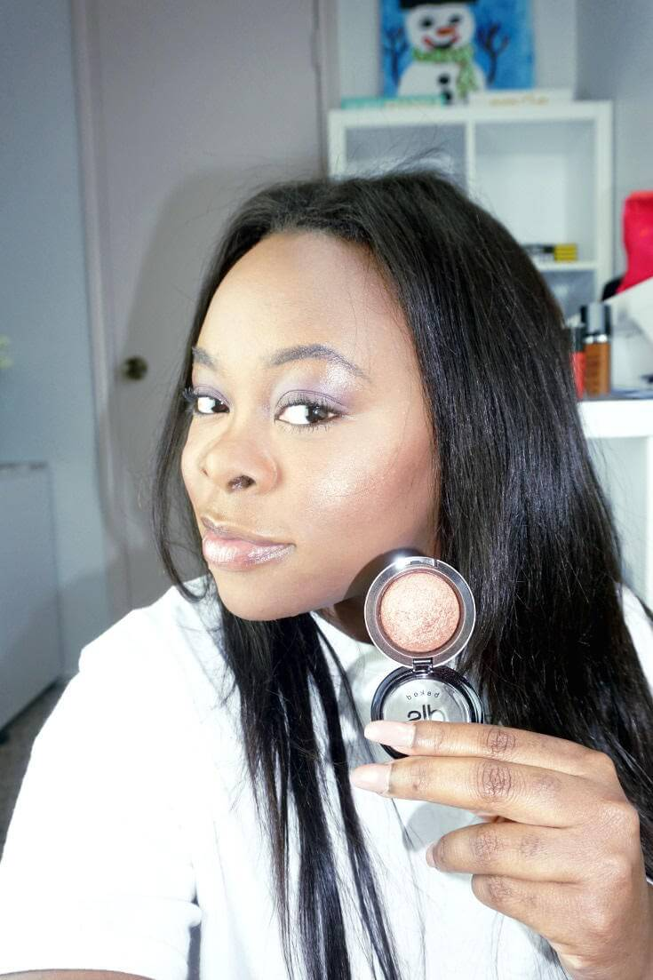 Dirty Little Secret Cosmetics Baked Highlighter in Soda Pop | Swatch | Chiclypoised.com