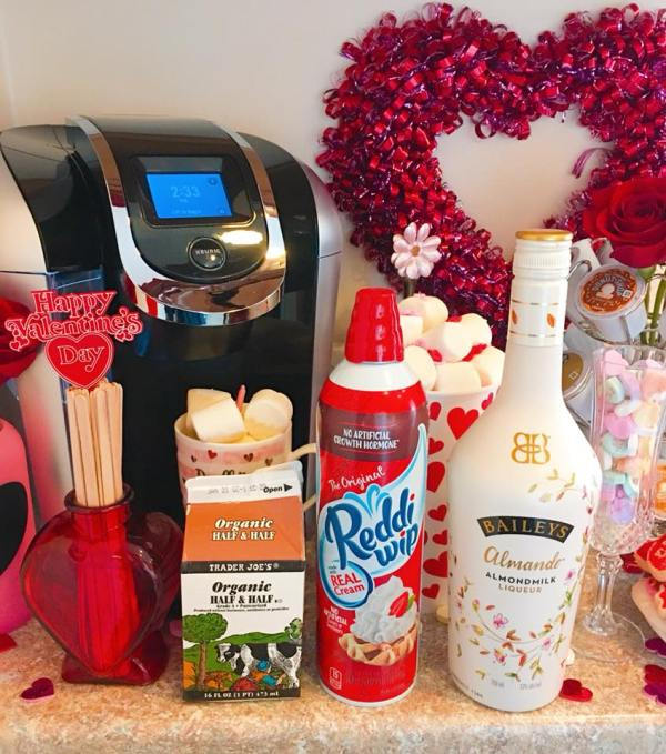 Creamer & Bailey's for the Valentine's Day coffee station