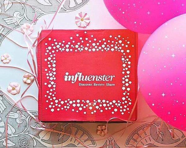 A red Influenster box