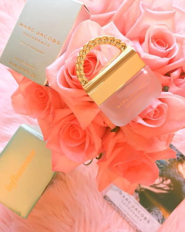 A Marc Jacob bottle of perfume from Influenster