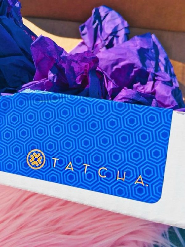 A Tatcha delivery box.
