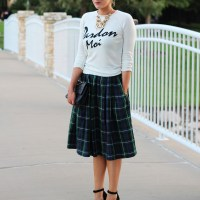 Plaid Midi Skirt. Devon Rachel