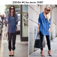 Denim Shirt Two Ways