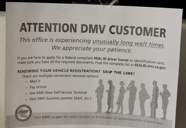 Appointment disappointment at DMV offices in Butte County, around