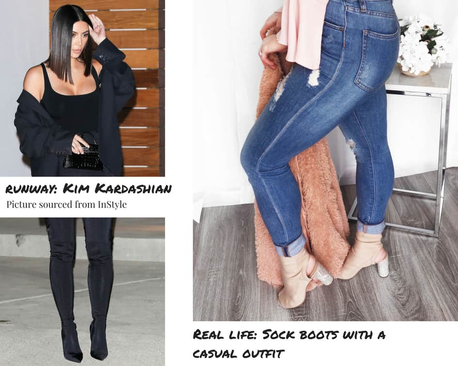 From runway to real life Spring fashion 2018 sock boots