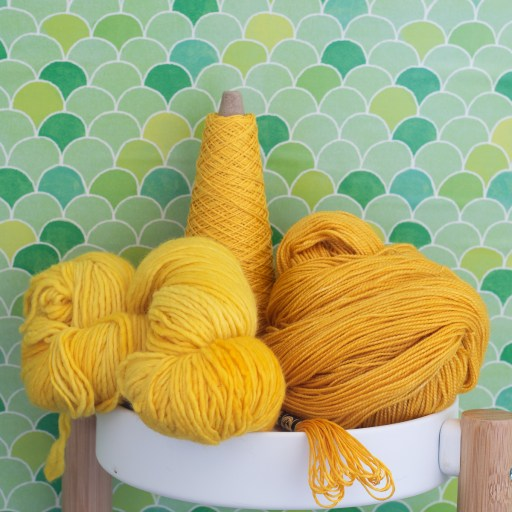 Yellow yarns.