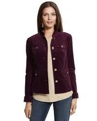 Velveteen Utility Jacket