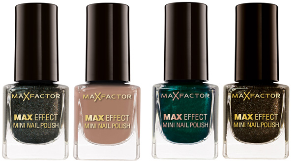 Max Factor fall winter 2010 mini nail polish bottles Max Factor Colour X PERT Collection for Fall Winter 2010