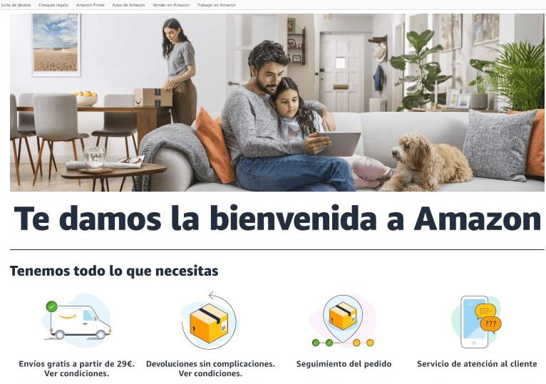 Imagen de Amazon 'Bienvenidos'