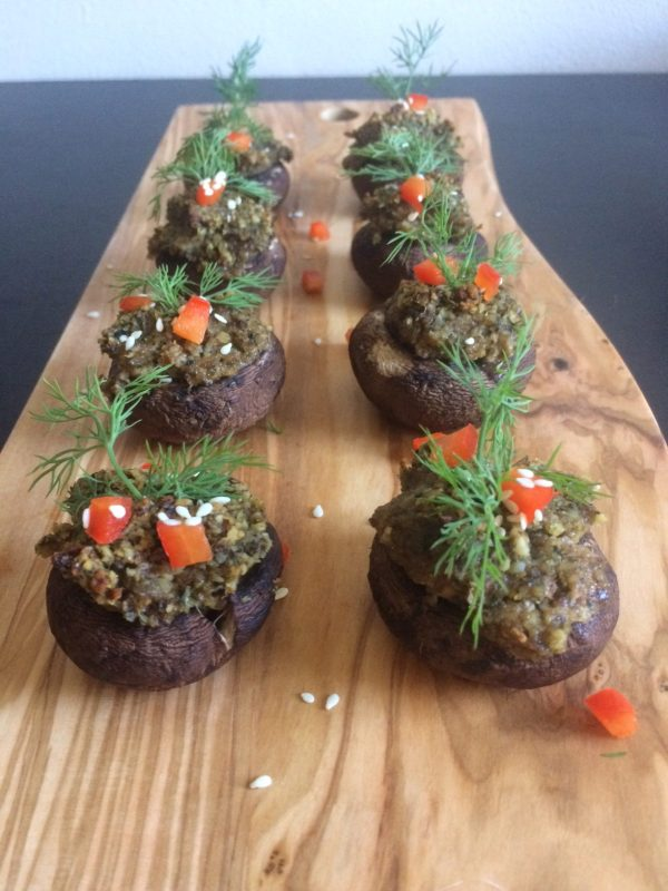 Great For Your Brain Stuffed Mushrooms