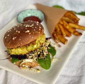 Veganer Burger