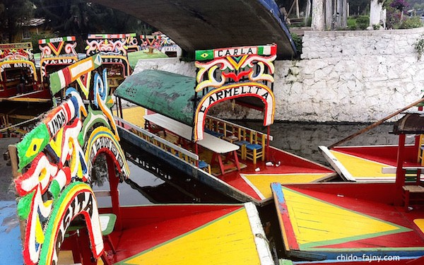 Las trajineras de Xochimilco