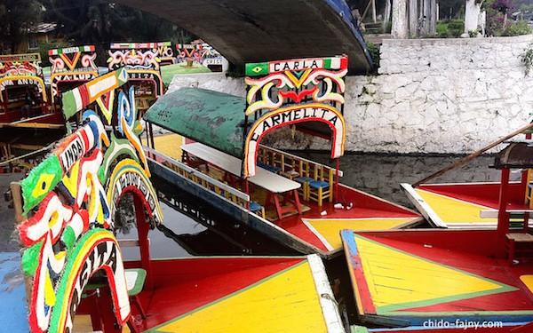 The trajineras of Xochimilco