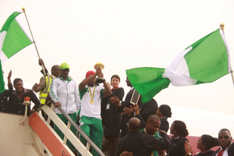Triumphant Super Eagles arrive home to heroes welcome