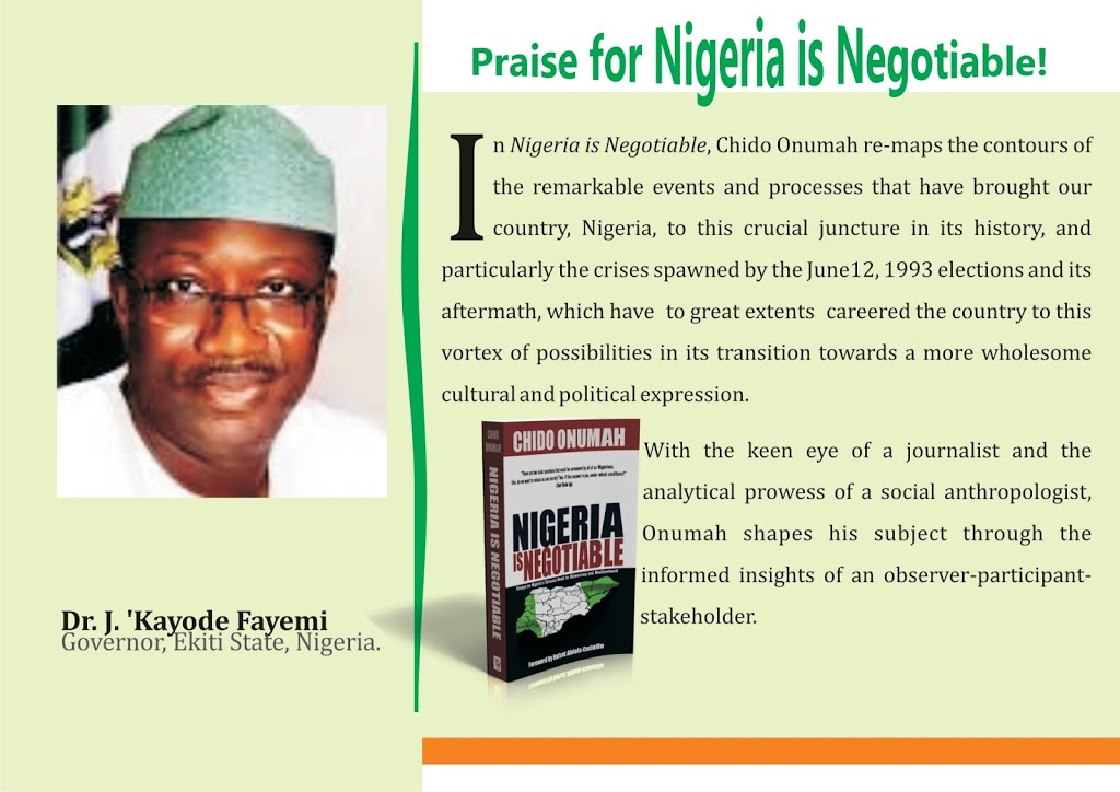 Praise for Nigeria is Negotiable