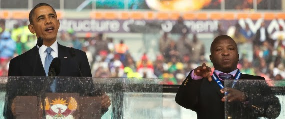 Bogus Mandela sign language interpreter was in group that burned men to death, say relative and friends