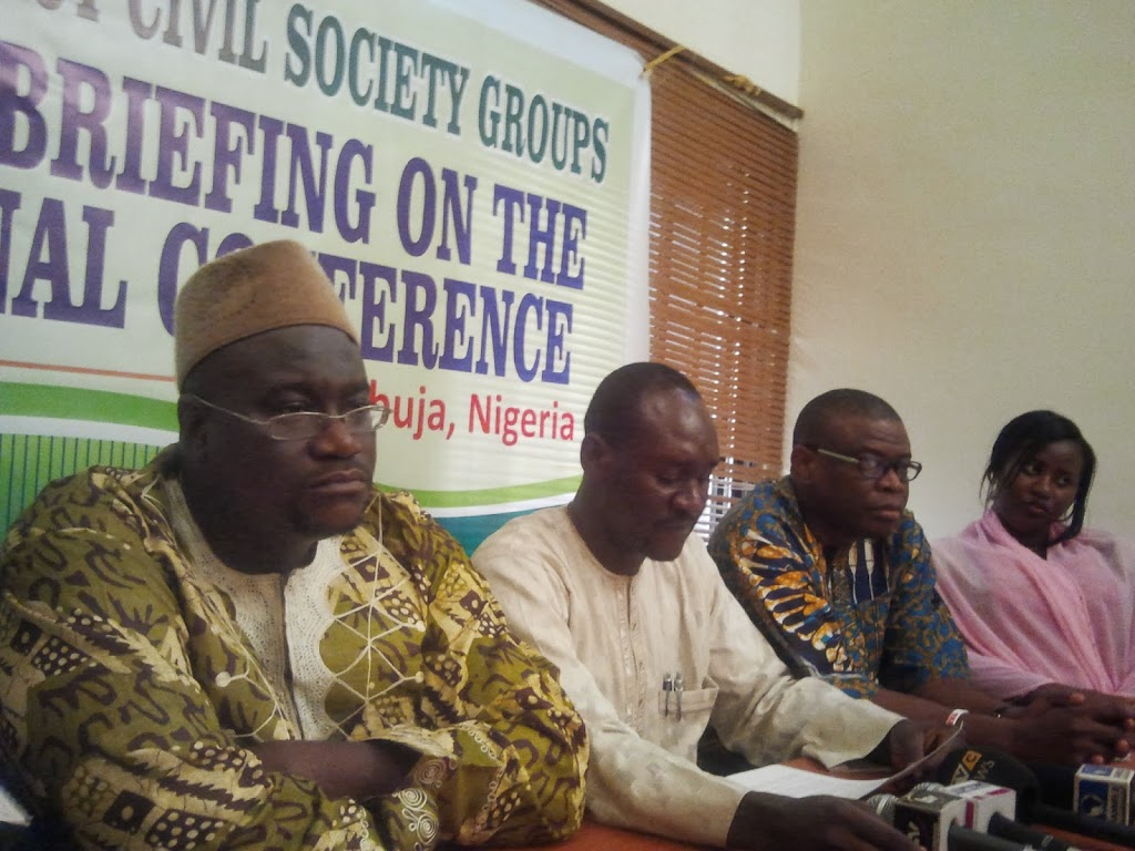 Nigeria's pro-democracy civil society organisations announce program of action for National Conference
