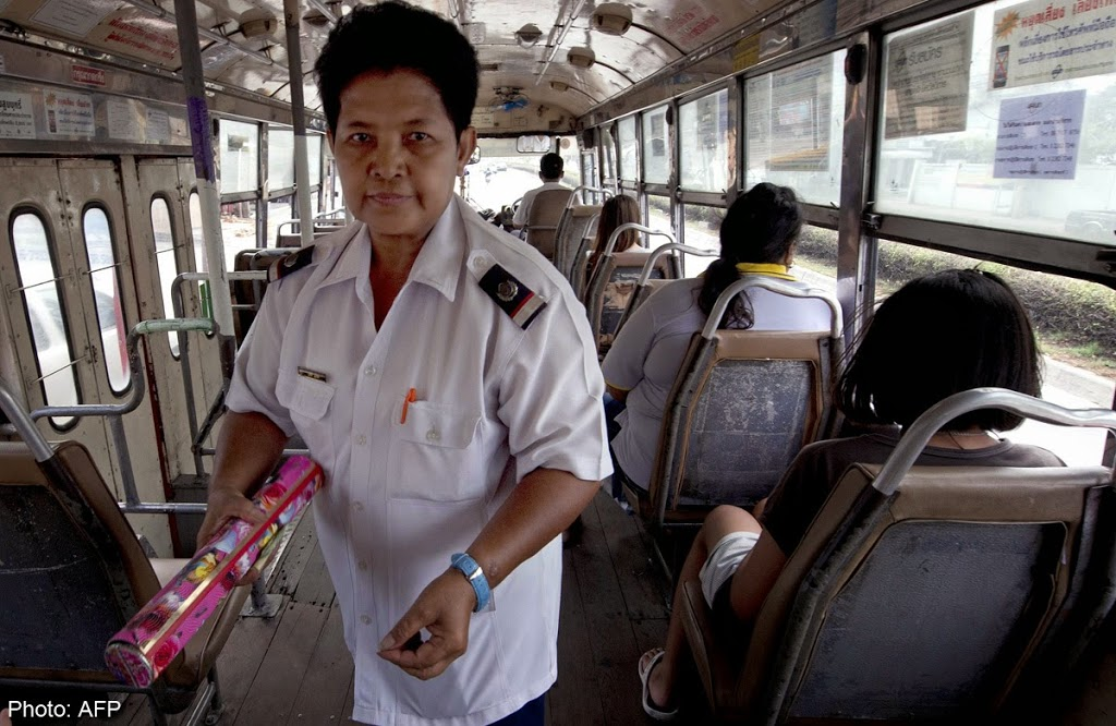 Lack of toilet breaks forces Thai bus conductors to wear diapers