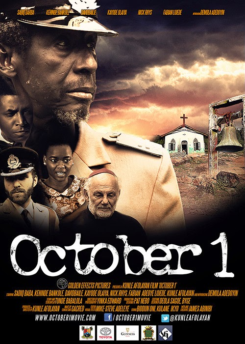 October 1, the movie, in cinemas nationwide (Nigeria) from October 1, 2014