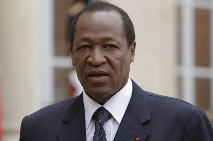 President Blaise Compaore of Burkina Faso refuses to step down