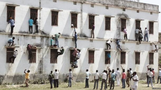 Exam cheating taken to new heights in India