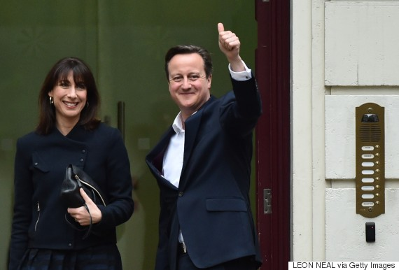 British PM, David Cameron, returning to power, Labour Party routed in Scotland