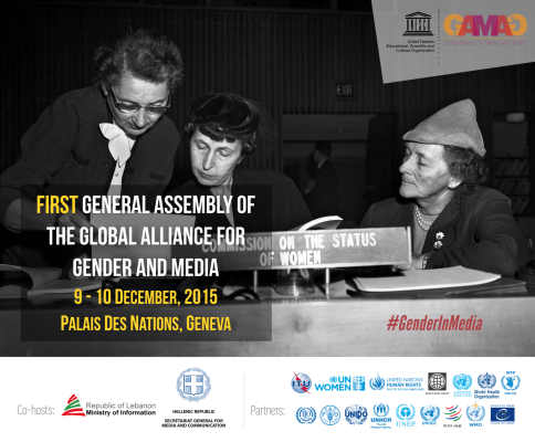 First General Assembly of the Global Alliance on Media & Gender, Palais des Nations, Geneva, December 9-10, 2015 #GenderInMedia