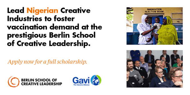 Global Health Communication Scholarship for Nigerians to the Berlin School - Courtesy of Gavi, the Vaccine Alliance