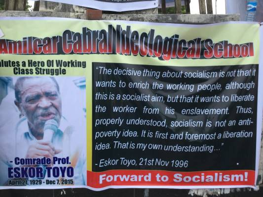 Eskor Toyo and the struggle of the working peoples – For workers' power, popular democracy, socialism