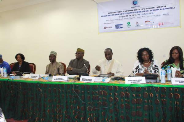 Declaration of the WACSOF People's Forum, August 16, 2016, Abuja, Nigeria