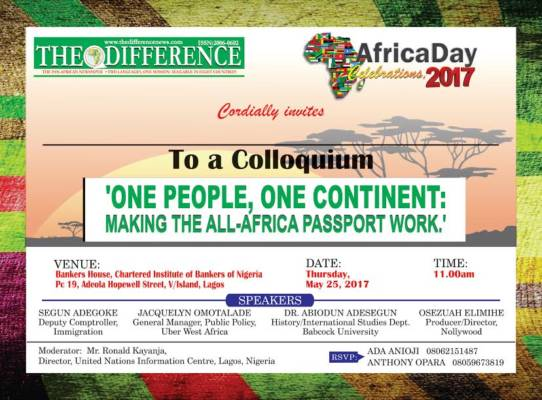 The Difference Newspaper hosts Africa Day 2017 at Bankers Hall, Lagos, May 25