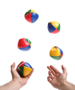 Juggling gets exponentially complex