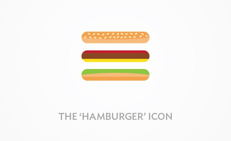 Ícone de Hamburguer para menus